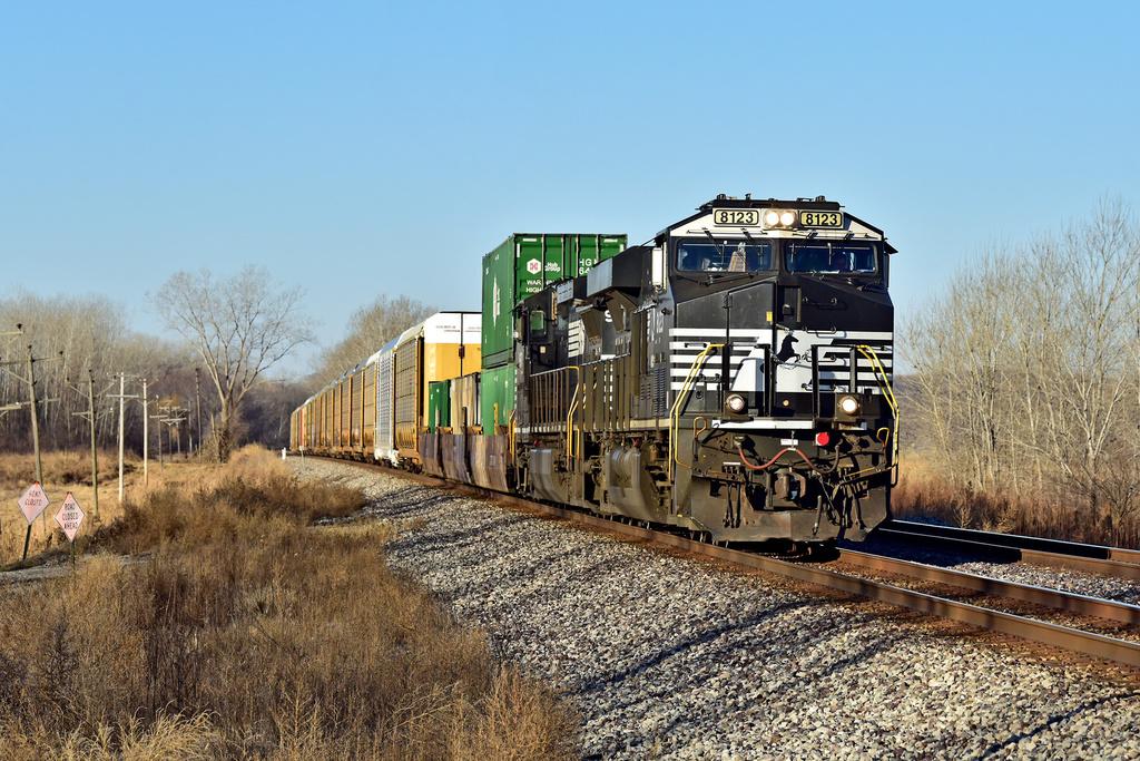 NS ES44AC 8123 / Clevenger, MO — Trainspo